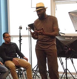 Director Andrew Dosunmu stops by one of LREI's film classes.