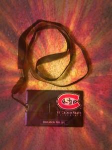 'St. C' 2GB flash drive & lanyard