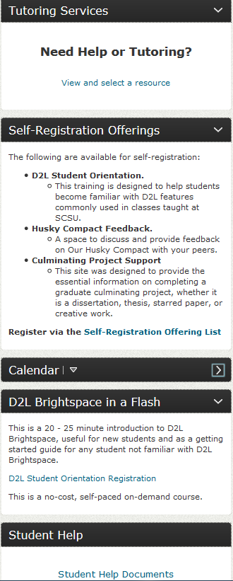D2L help and tutring screenshot