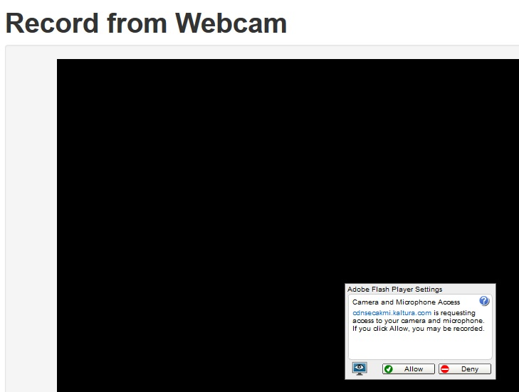 Mediaspace Record from Webcam