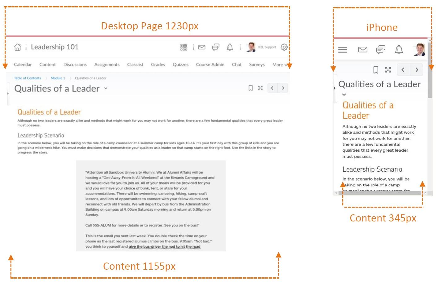 deesktop vs. mobile page width