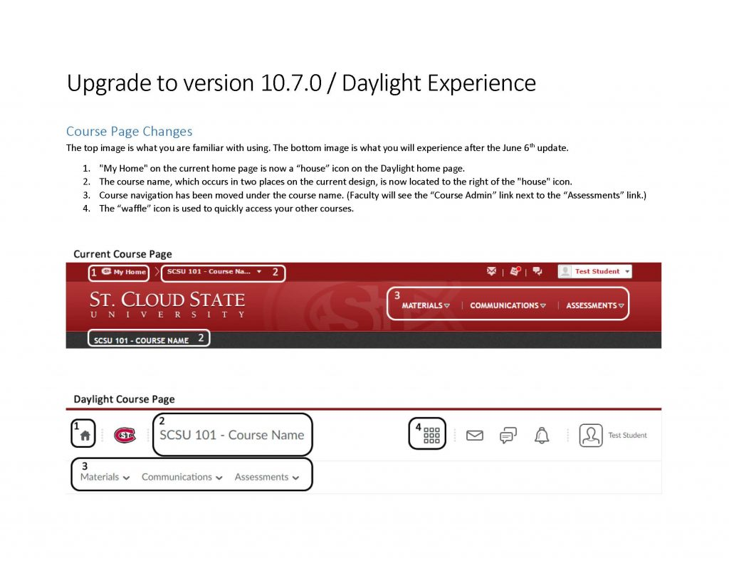 D2L Dayligh Visual Design Changes
