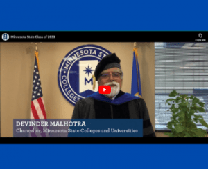 Chancellor Devinder Malhotra Message to the Class of 2020 Video