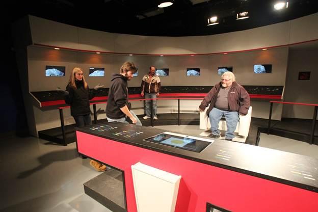 Mike Sitting in Star Trek Captains Chair in UTVS SCSU IT Guy – Star Trek Captain Chair
