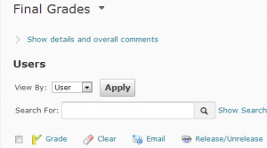release/unrelease grades