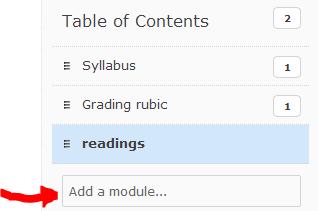 ereserve module