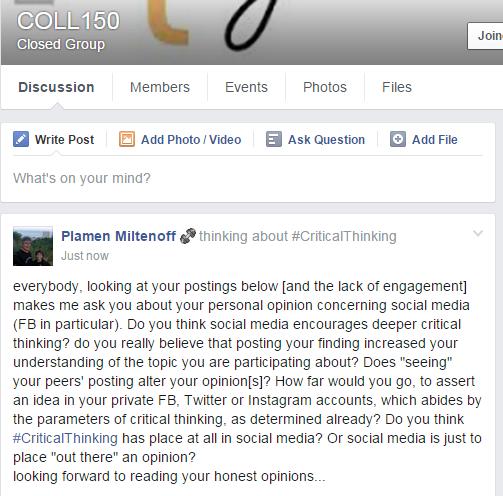 social media critical thinking