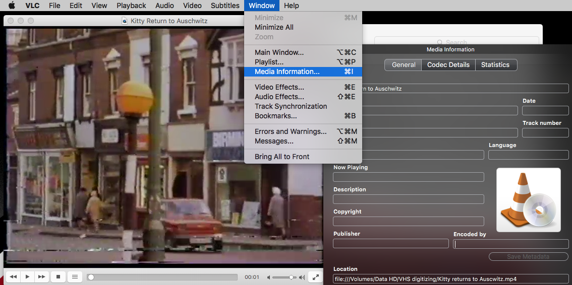 metadata VLC-