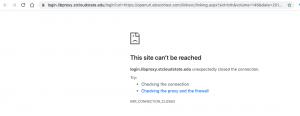 library error msg