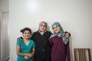 JERSEY CITY, NJ - SEPTEMBER 18: The Darbi's, a Syrian refugee family that just resettled in Jersey City, NJ must begin the process of acclimating to life in America, Sept 18, 2015. (Willa Frej/Huffington Post) *** Local Caption ***