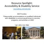 Accessibility & Disability Services