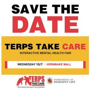 Save the Date Terps Take Care Fair Wednesday, 10/7 on Hornbake Mall