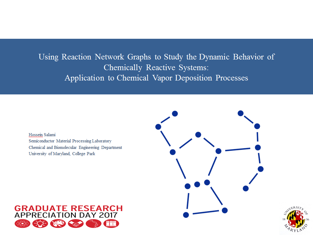 The Research Group Of Raymond A Adomaitis Wiring Diagram Hossein Salami Che Phd Student In Our Won First Place For His Presentation Using Reaction Network Graphs To Study Dynamic Behavior