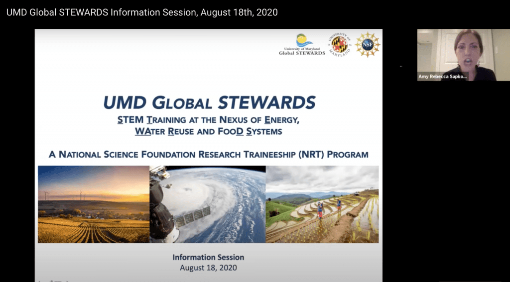 UMD Global STEWARDS Info session held on 08.18.20 available on YouTube