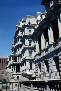 Eisenhower Executive Office Building, Phot from School of Architecture, Plannign and Preservation Visual resources Collection