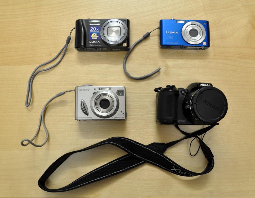 Cameras that students may borrow.