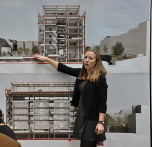 Master of Architecture student presents her thesis project.