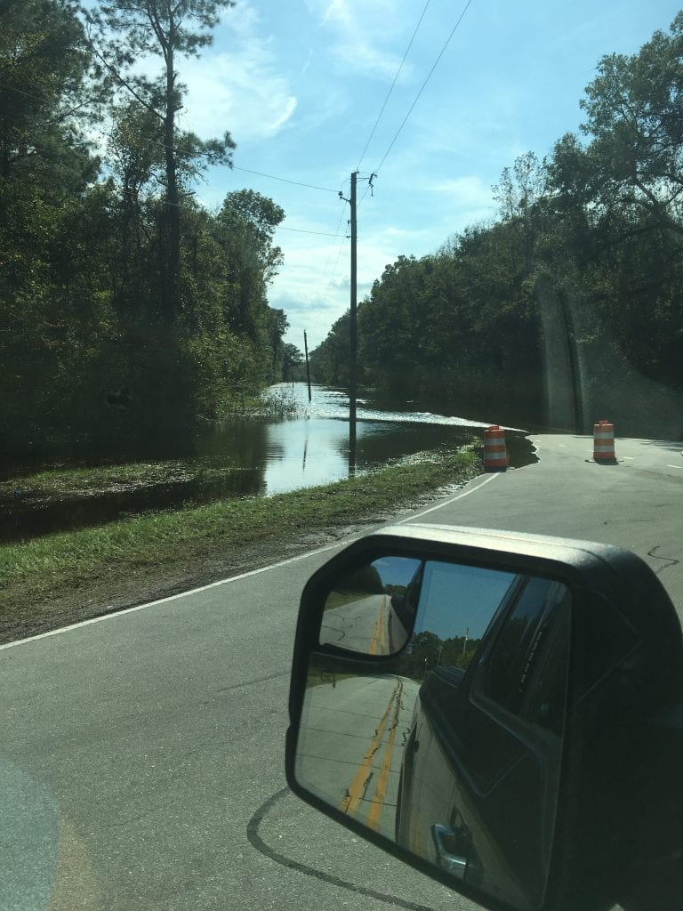 GPS directed me to a flooded road.