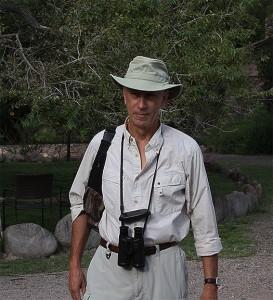 Mike Walking in Tilley Hat