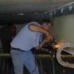 Grinding for gauge installation