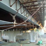 Steel girder ready for pouring