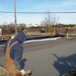 Poured deck