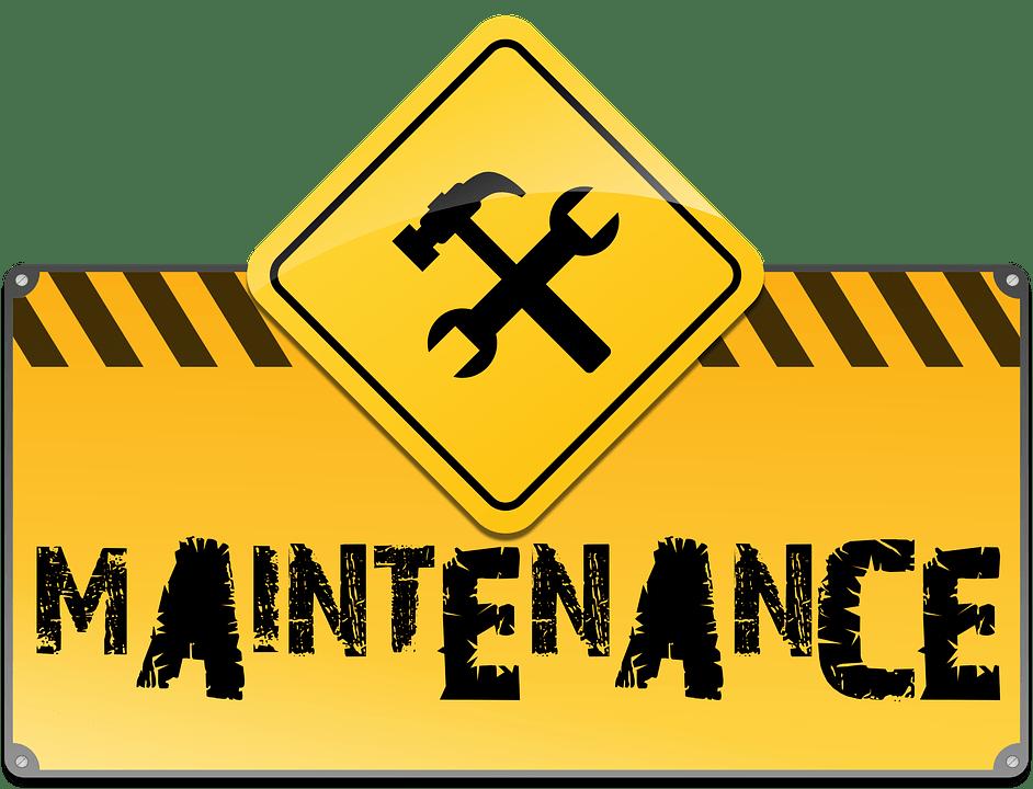 Maintenance Sign