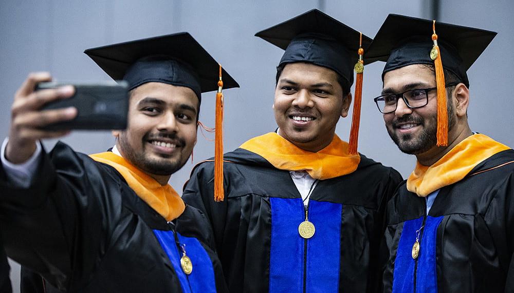 uta students at graduation