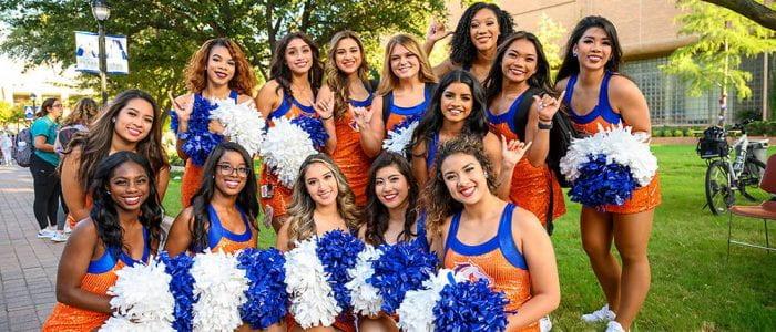 UTA cheerleaders during spirit week