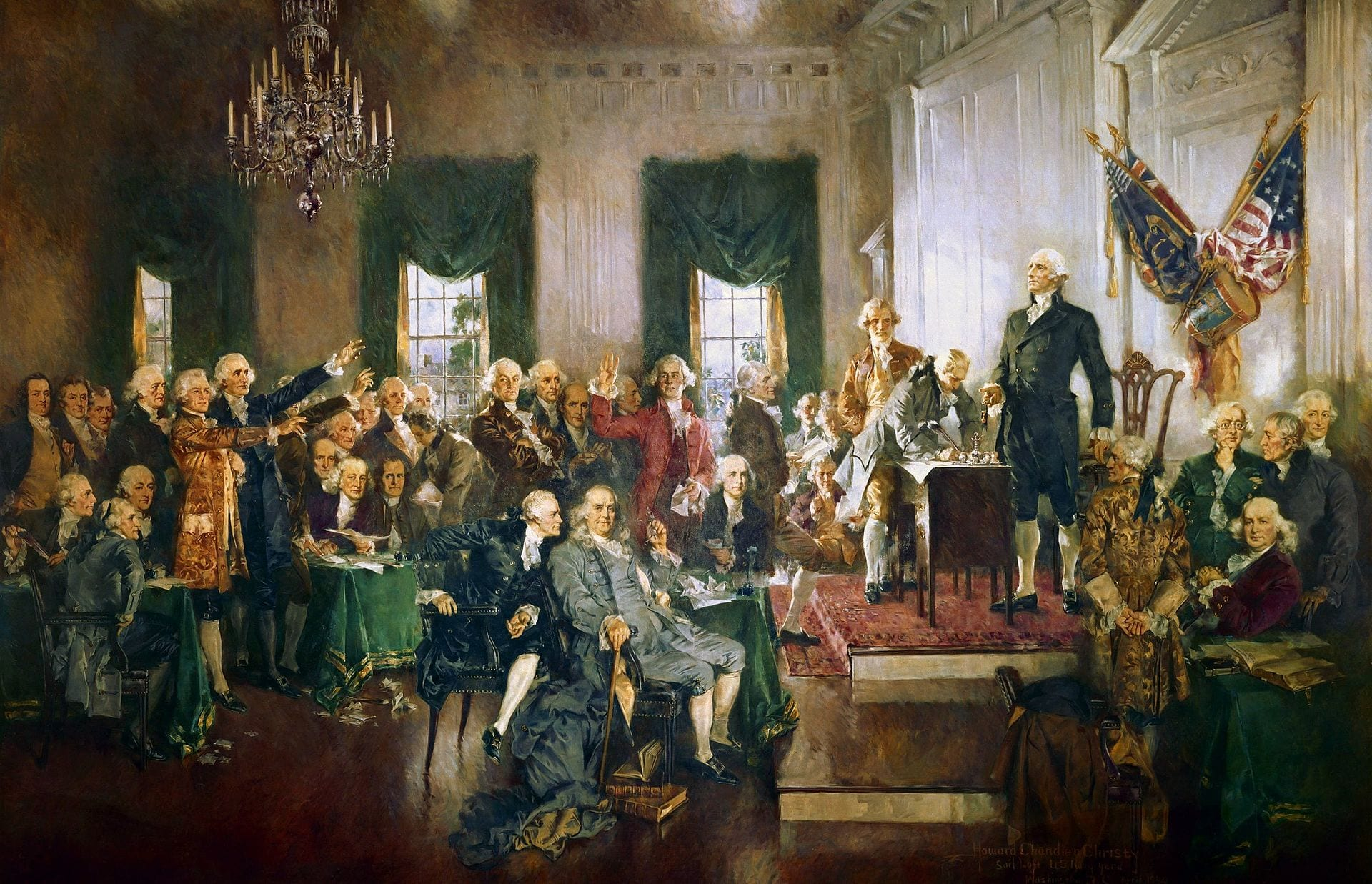 Signing of the Constitution, Sept. 17, 1787