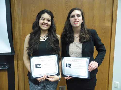 IIE Outstanding Senior and Junior Awards Winners