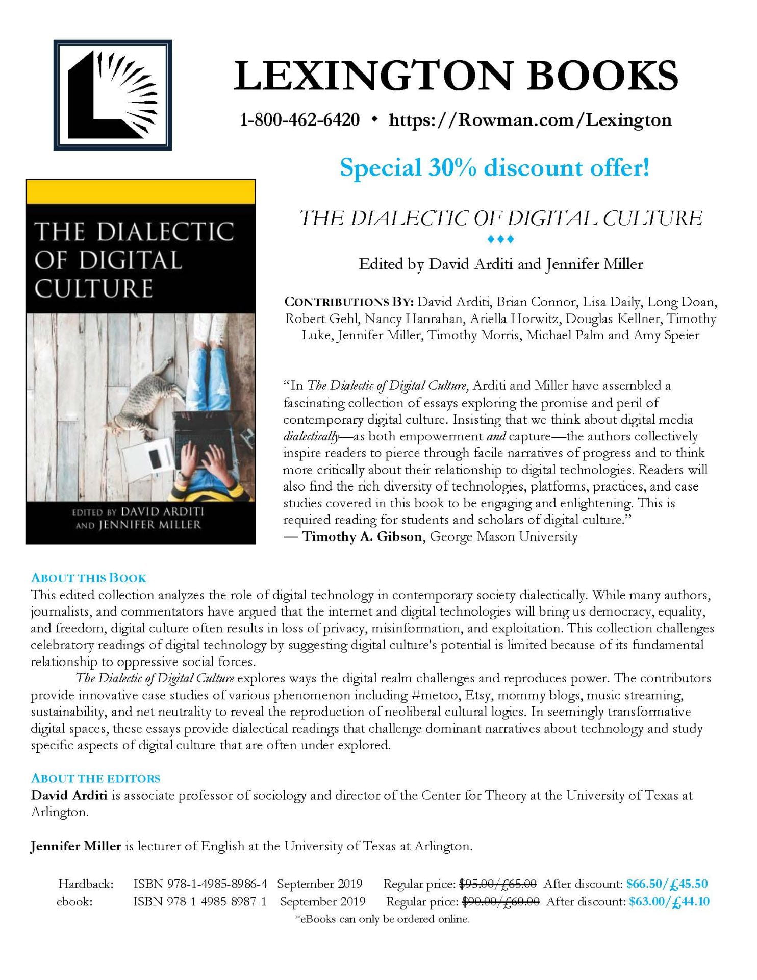 The Dialectic of Digital Culture   Tag   Lexington Books