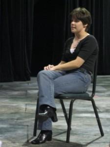 Guest Artist and Alumnus, Erin Brownfield, speaking in Departmental Meeting on October 22, 2010