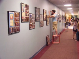 Installing the Archive wall Hangings