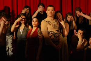 Promotional still from the Sea Change Theatre production of Antigone by Sophocles