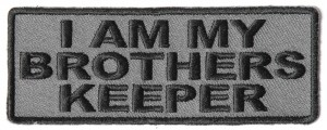 P4002-I-am-my-brothers-keeper-Patch-in-Black-over-Gray