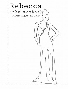 Mother - in dress - prestige font