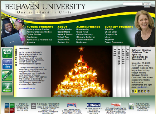 University - home page