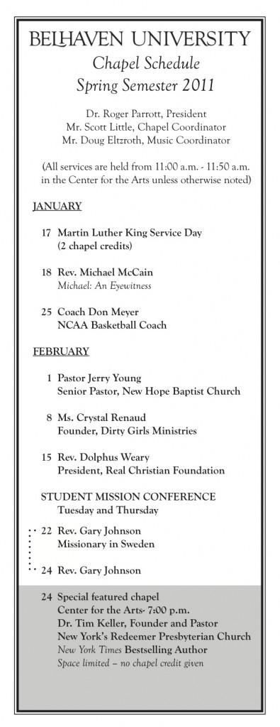 Chapel Card 011111