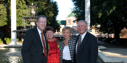 LEADING THE WAY: Dr. Verne and Martie Kennedy and Dr. Newton and Becky Wilson are ready to launch the 100 campaign!