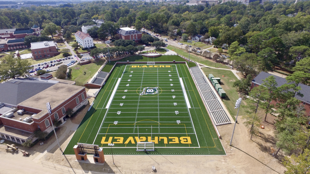 The new Belhaven Bowl Stadium is now surrounded by beautiful landscaping.