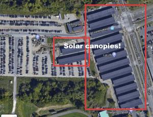 Solar Canopies google maps screenshot.