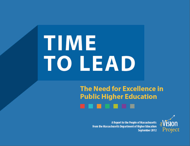 "Massachusetts Vision Project Report Released: ""Time to Lead"""