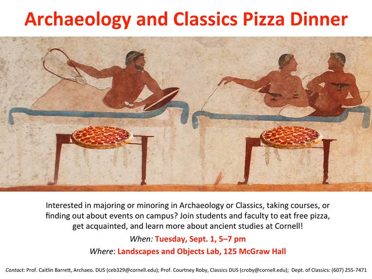Archaeology and Classics Pizza Dinner