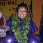 Celebrating Harvest Week Sue Rauscher, Food Service Director at Palmyra-Macedon Central School District, dressed as grapes
