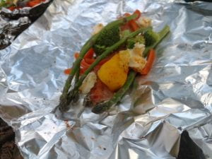 brook trout in foil ready to grill
