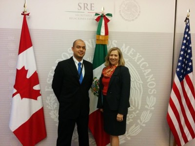 This photo was taken during the Third Trilateral Anti-Trafficking in Persons meetings held in Mexico City (November 2016).