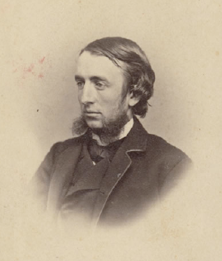 Cornell's first president Andrew Dickson White in 1865 at the founding of the University.