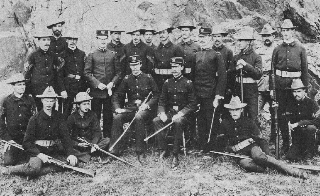 A group of Cornellians pose for a photo during the Spanish-American War in 1898.