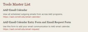 AAD Intranet view